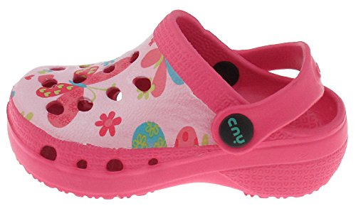 Capelli New York Toddler Girls Fluttering Butterflies Printed Injected Eva Clog With Backstrap Pink Combo 6/7