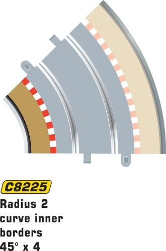 Scalextric C8225 Borders Tan Inner Radius - 45 Degrees