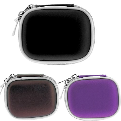 Gtmax 3 Colors Carrying Pouch Case Bronze , Purple , Black For Plantronics And Many More Bluetooth Headset /3.5Mm Wired Headset