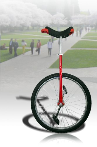 "New 24"" Unicycle Red Chrome Unicycle Wheel Cycling"