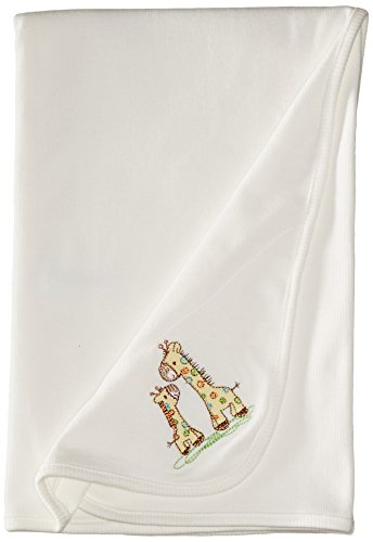 Little Me Baby-Boys Newborn Giraffe Tag Along Blanket, Ivory, One Size