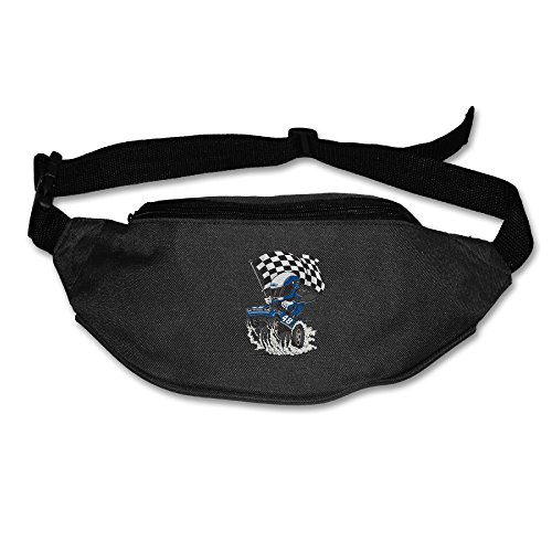 Chevrolet Ss Jimmie Johnson #48 Running Pocket Waist Pack Purse Black One Size