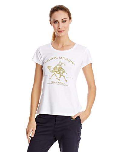 National Geographic T-Shirt Manica Corta [Bianco]