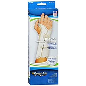 Sportaid, Wrist Brace Deluxe, Left, Beige - Large