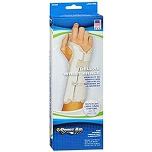 Sportaid, Wrist Brace Deluxe, Left, Beige - Large