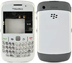 Replacement HIGH QUALITY FULL BODY HOUSING PANEL FACEPLATE FASCIA for BLACKBERRY CURVE 8520 White