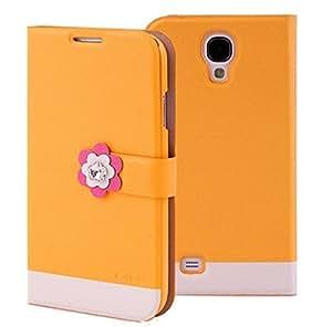 Samsung Galaxy S4 I9500Wallet Case Orange