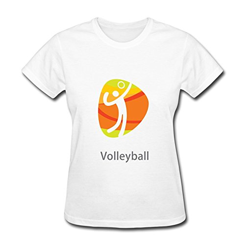 Van-Womens-Rio-De-Janeiro-Olympic-Sports-Volleyball-Tees-XL-White