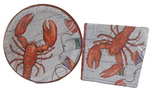 sea-food-theme-paper-plates-and-napkins-bundle-of-two-items-paper-plates-and-napkins-red-lobster-by-