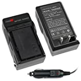 GTMax Brand New AC Wall Charger + In-Car Adapter NP-FC10 FC11 for Sony CyberShot DSC-P10, DSC-P2, DSC-P3, DSC-P5, DSC-P7, DSC-P8, DSC-P9, DSC-V1