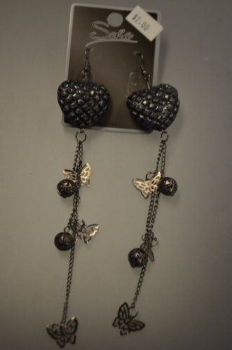 Heart and Butterflies Earrings