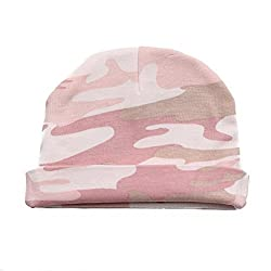 Crazy Baby Clothing Baby Beanie One Size in Color Pink Camo