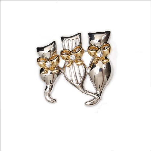 Fashion Trendy Three Cats Brooch #008994