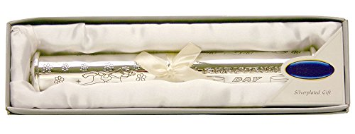 Silver Plated Christening Certificate Scroll Holder By Haysom Interiors