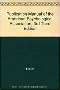 publication manual of the american