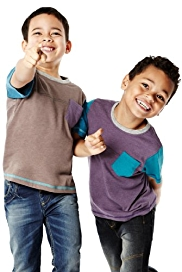 2 Pack Crew Neck Contrast Pocket T-Shirts