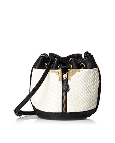 Danielle Nicole Women's Alexa Mini Bucket, White/Black
