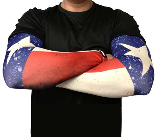Missing Link SPF 50 Republic of Texas ArmPro Compression Sleeve (Multi Color, Medium)