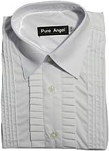 FampL Kids39 Long Sleeve Laydown Collar Tuxedo Shirt