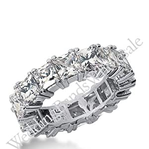 950 Platinum Diamond Eternity Wedding Bands, Prong Setting 8.00 ctw. DEB18145PLT - Size 10