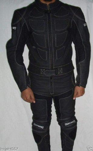 Combinaison en cuir pour motard - noir - taille XL