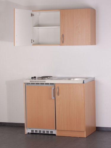 MEBASA MEBAKB100OS Küchenblock Pantryküche Buche 100 cm