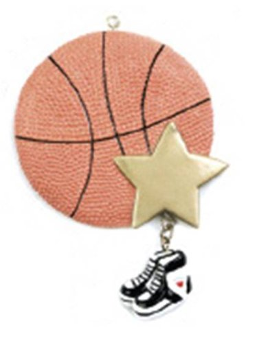 1 X Basketball Star Personalized Ornament