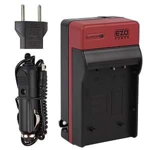 EZOPower DMW-BLH7 DMWBLH7 chargeur secteur de batterie avec adaptateur de voiture allume-cigare compatible avec Panasonic Lumix G DMC-GM1 Appareil Photo Numerique