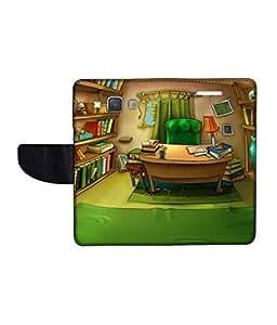 KolorEdge Printed Flip Cover For Samsung Galaxy A3 Multicolor - (45KeMlogo09653SamA3)