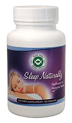 Sleep Naturally - Sleep Aid w/ Melatonin - Non Addictive Sleeping Pills with a Free E-book - Natural Valerian Root Chamomile Get Deeper More Restful Sleep -Sleep Remedy Aids a Better Sleep Cycle - 60 Vegetarian Capsules - 90 Day Money Back Guarantee