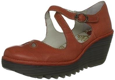 Fly London Women's Yate Orange Wedges Heels P500275021 3 UK