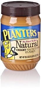 Planters Natural Creamy Peanut Butter Spread, 26.5 Oz