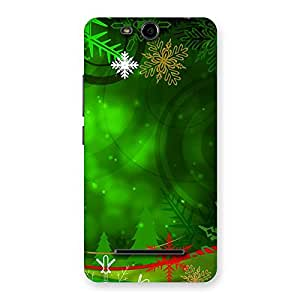 Ajay Enterprises FullGreen Design Back Case Cover for Micromax Canvas Juice 3 Q392