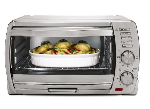 Oster TSSTTVSKBT 6-Slice Large Capacity Toaster Oven, Brushed Stainless Steel (Oster Toast Oven compare prices)