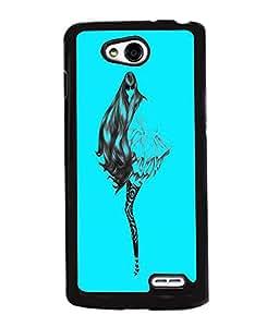 Fuson Blue Girl Back Case Cover for LG L90 - D3812