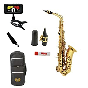 Legacy AS1000 Intermediate Alto Saxophone with Case, Accessories and Selmer USA Mouthpiece, 3 Year Warranty