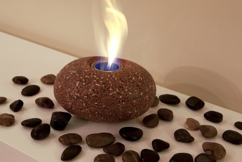 Medium Pebble Patio Heater Gel Burner - Terracotta