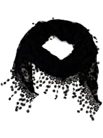 Womens Triangle Floral Sheer Lace Fashion Scarf