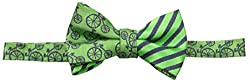 Andy & Evan Baby Boys' Bicycle and Stripe Bow Tie, Green, 0-24 Months