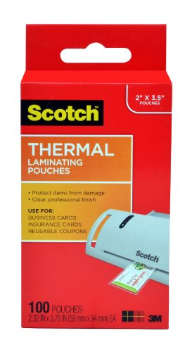 Best Deals Scotch Thermal Laminating Pouches 2 32 x 3
