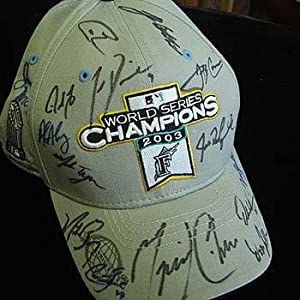 2003 Florida Marlins World Champion Signed Baseball Cap - Autographed MLB Helmets and... by Sports+Memorabilia