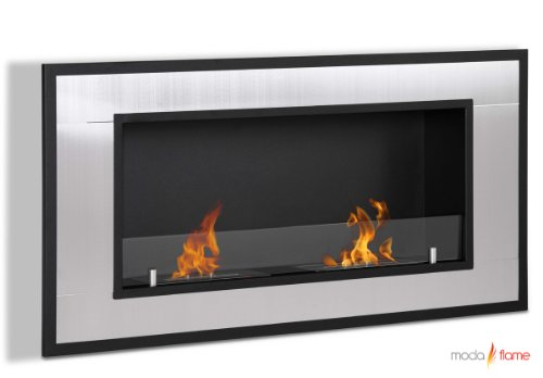 Moda Flame Lugo Wall Mounted Bio Ethanol Ventless Fireplace (Ventless Fireplace Ethanol compare prices)