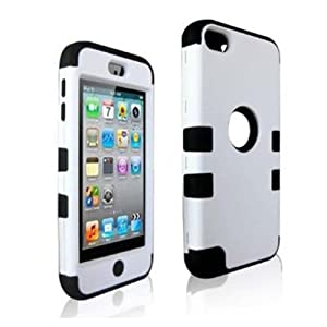 SQdeal® High Impact Hybrid 3 Layer Silicone Case with Hard Shell Inside Case for Apple iPod Touch 5 Generation 5