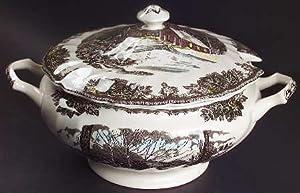 "Johnson Brothers Friendly Village, The (""England 1883"") Tureen No Lid, Fine China Dinnerware"
