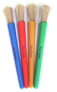 Chubby Brushes - Colourful Toddler Paint Brushes Set of 4