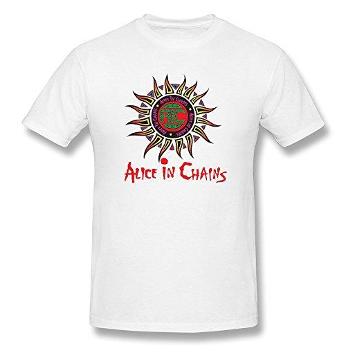 KaiOu Alice In Chains Logo Men's CottonT-shirt White L