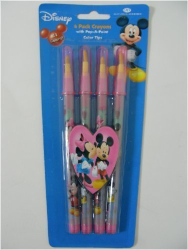 Disney Mickey Minnie 2 Pack Crayons With Pop A Point Color Tips