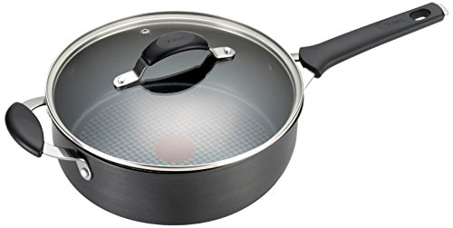 T-fal E81733 Endura Hard Anodized Titanium Nonstick Dishwasher Safe Saute Pan Cookware, 4.5-Quart, Black