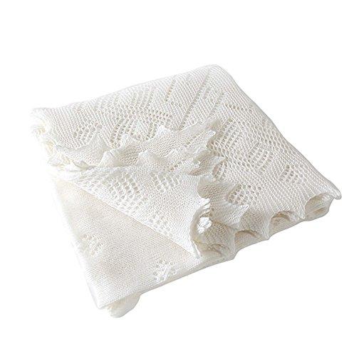 Super Fine Merino Wool Christening Shawl メリノウールショール (white)
