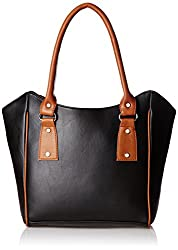 Fantosy Women's Handbag (Black and Tan) (FNB-354)